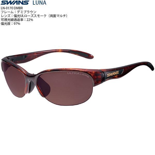 女性向け スポーツサングラス SWANS LUNA LN-0170 DMBR