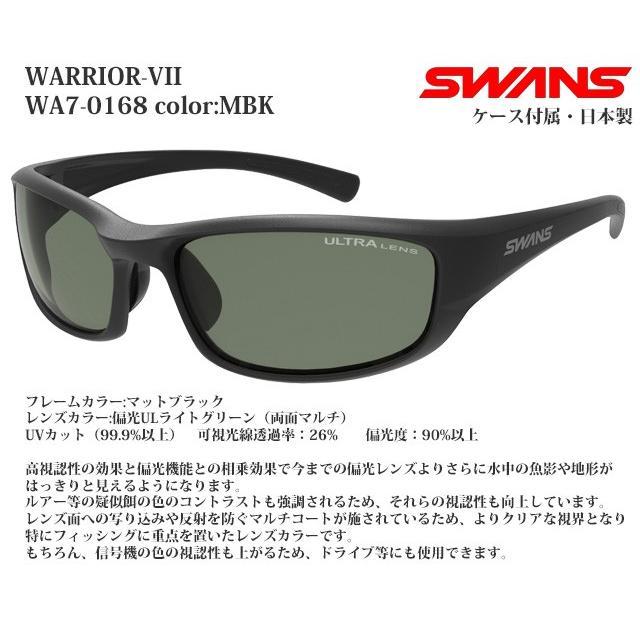偏光レンズ スポーツサングラス スワンズ SWANS WARRIOR-VII WA7-0168 color:MBK