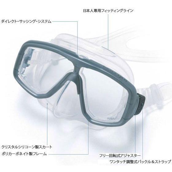 TUSAダイビングマスク Splendive-II M-7500 オーダーメイド度付きレンズセット 老眼EXタイプ|meganeshop|02