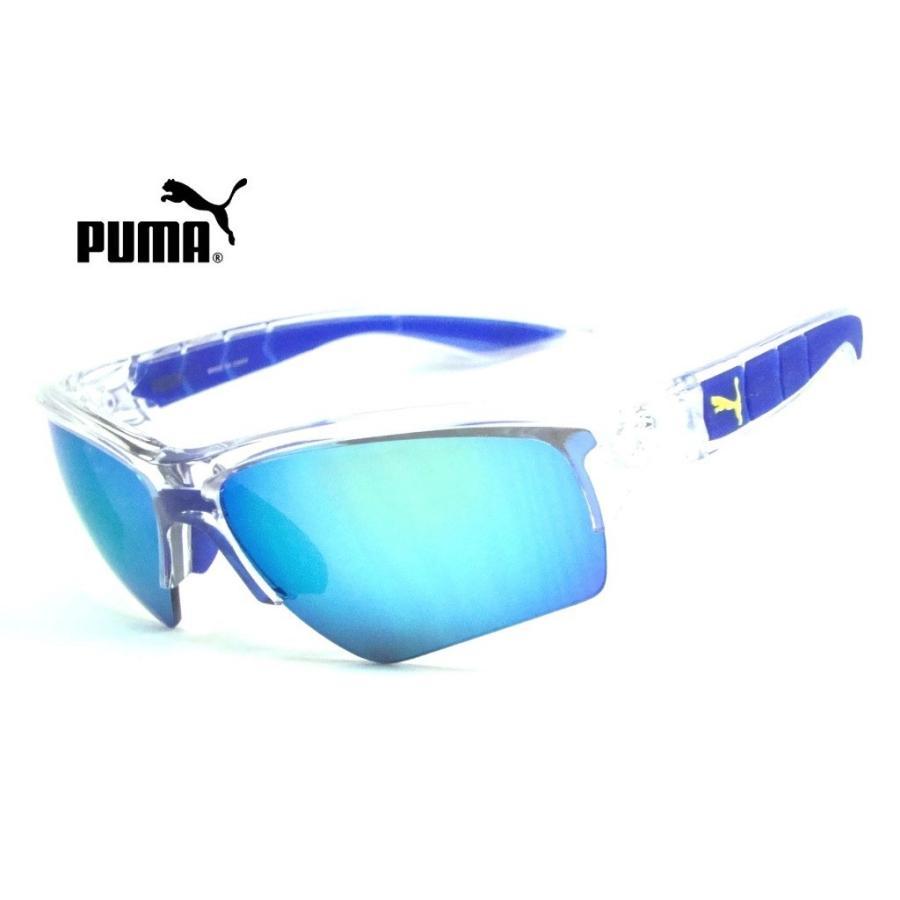 プーマ PU0056S 【PUMA】 005 クリア/ブルー 『新品・正規品 』ブルーミラー UVカットサングラス ◆送料無料◆