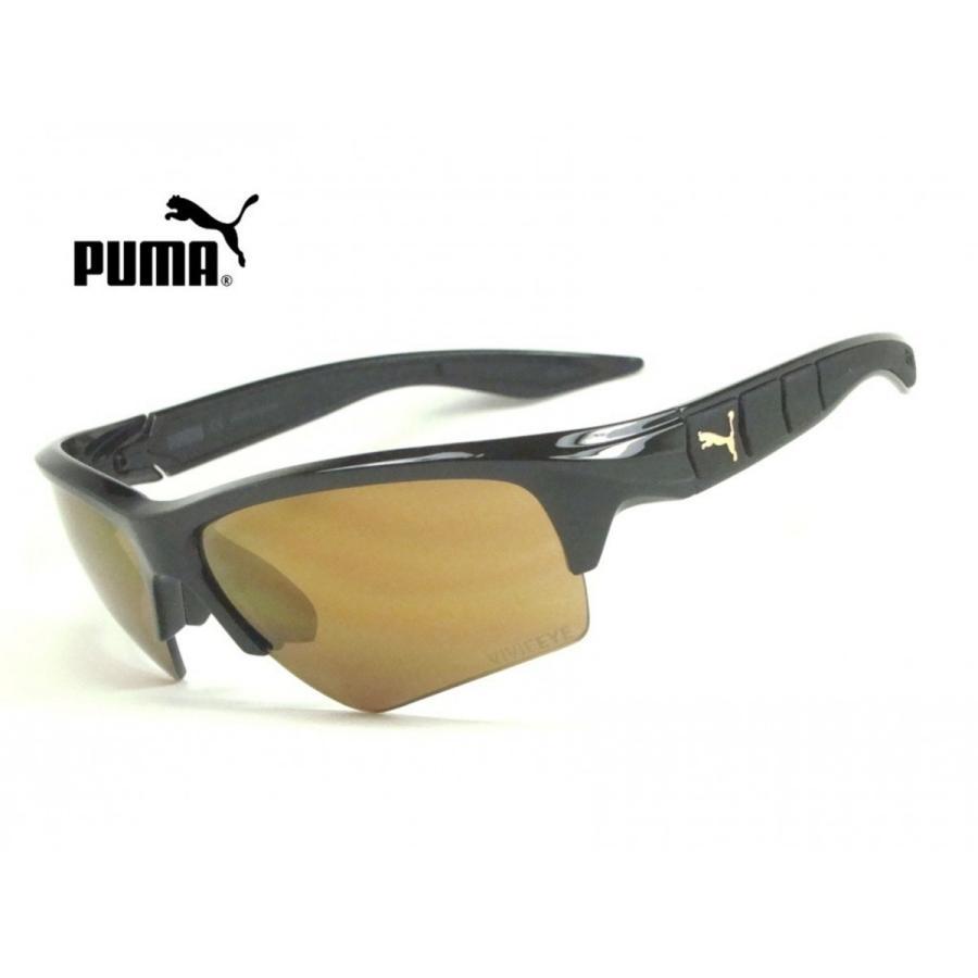 プーマ PU0056S 【PUMA】 010 ブラック/ゴールド VIVIFEYE 『新品・正規品 』 UVカットサングラス ◆送料無料◆