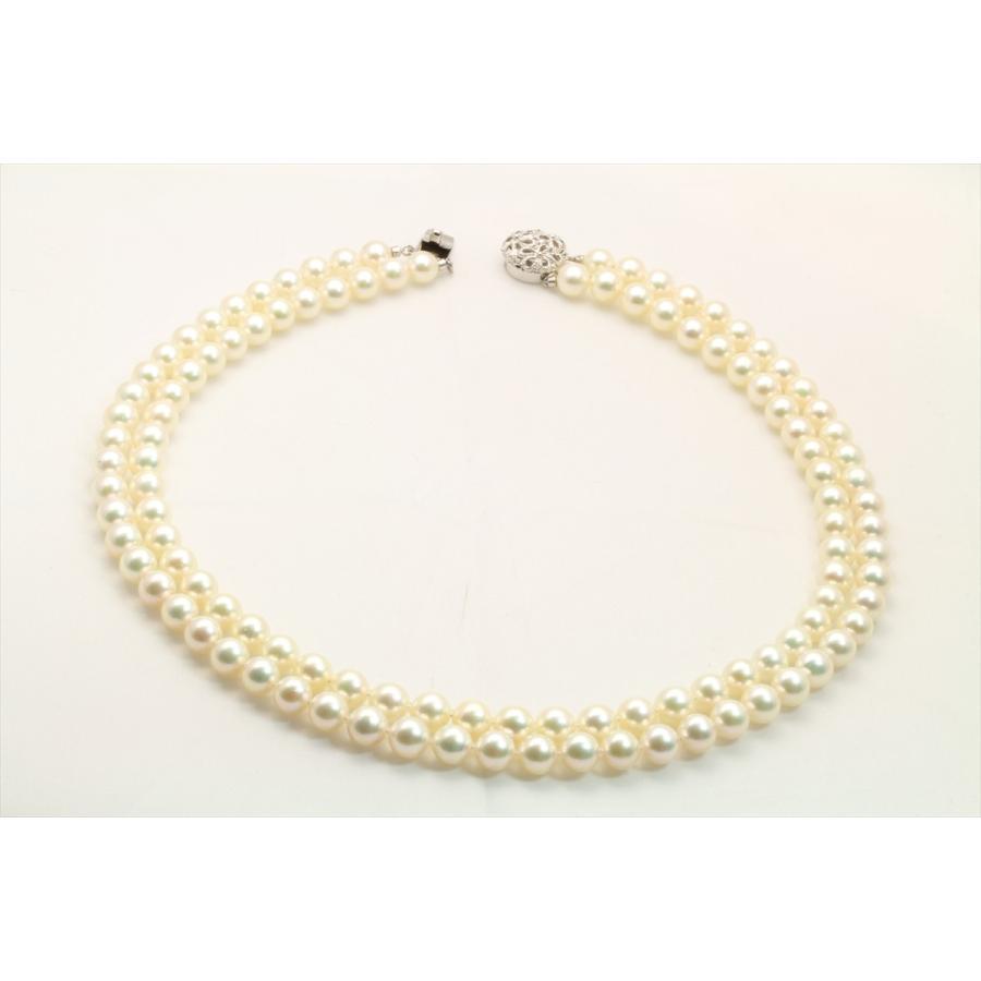 あこや 本真珠 2連 ネックレス SV925 新品 レディース|megumi-1