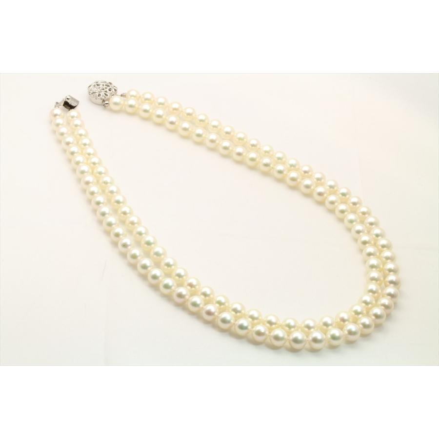あこや 本真珠 2連 ネックレス SV925 新品 レディース|megumi-1|02