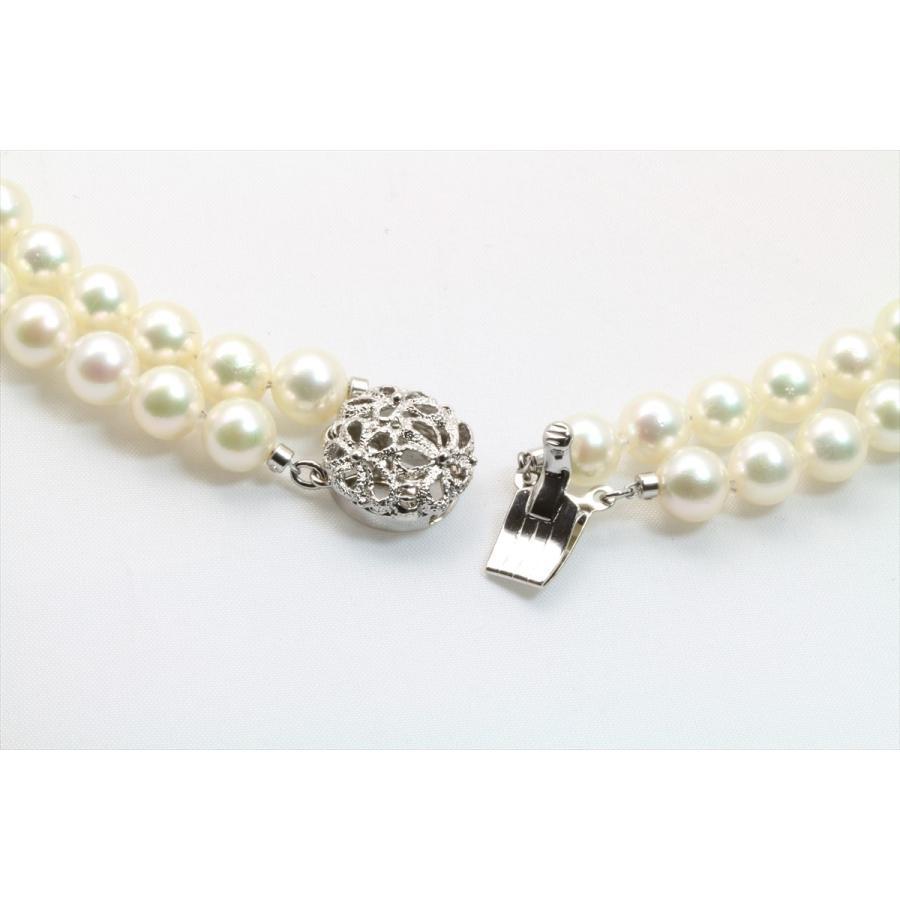 あこや 本真珠 2連 ネックレス SV925 新品 レディース|megumi-1|04