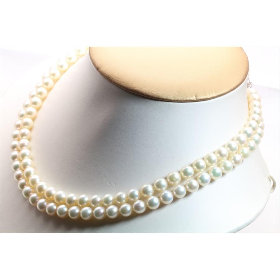 あこや 本真珠 2連 ネックレス SV925 新品 レディース|megumi-1|06