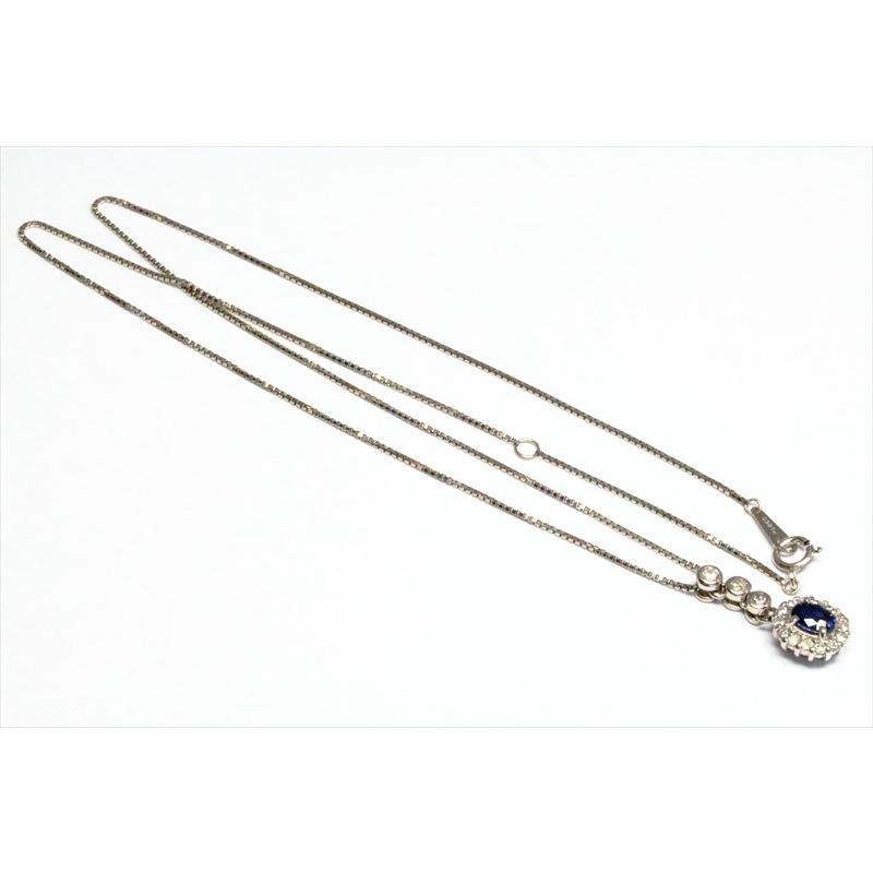 天然 ブルーサファイア  ダイヤモンド ペンダント PT900/ PT850 新品 レディース megumi-1 03
