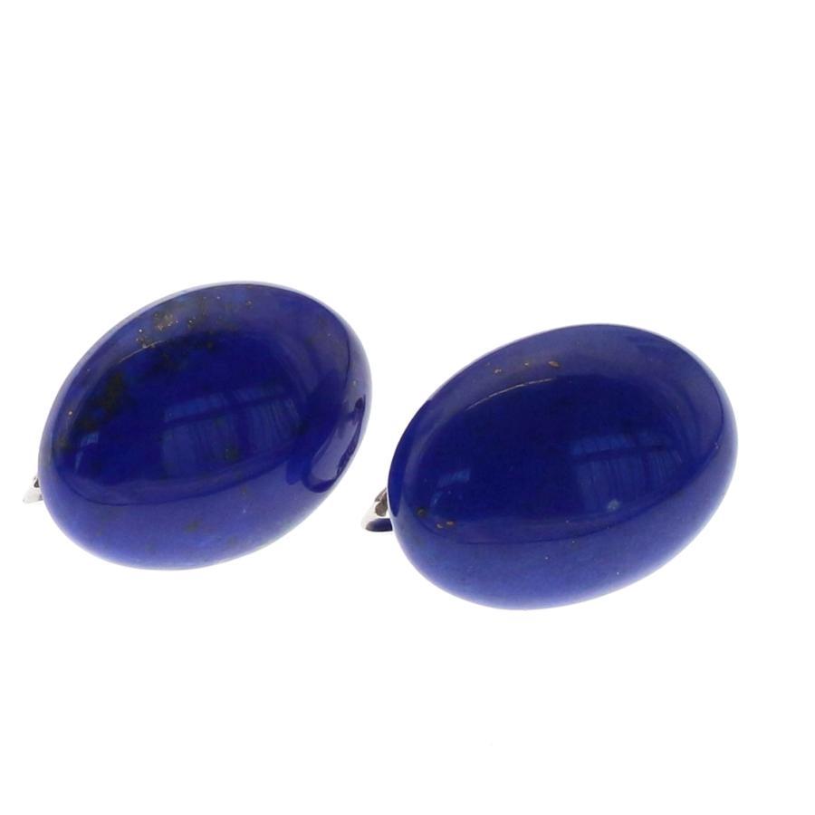 保証書付き 天然 大粒 ラピスラズリ イヤリング SV925  色が綺麗|megumi-1