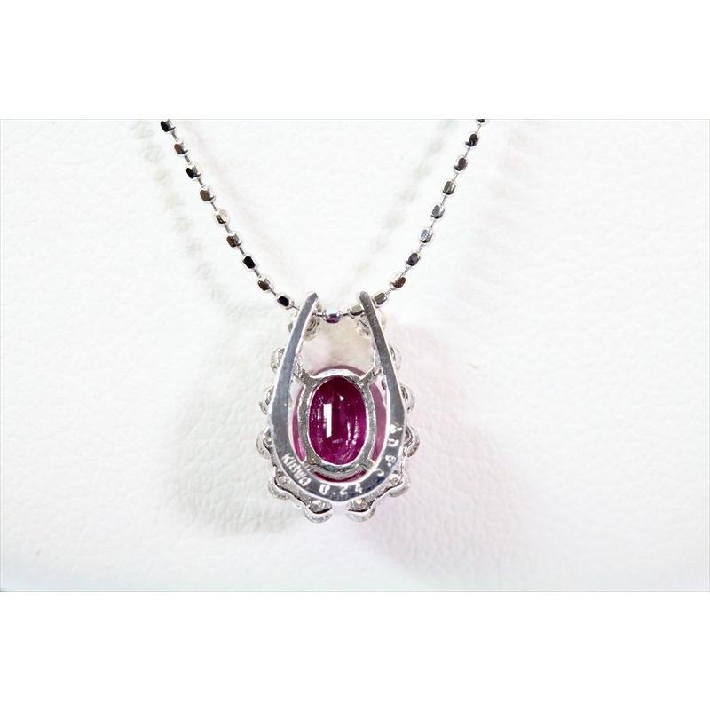 天然 ルビー ダイヤモンド ペンダント ネックレス K18WG 新品 レディース|megumi-1|04