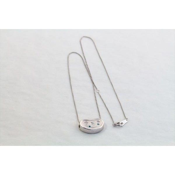 ホワイトダイヤモンド ブルーダイヤモンド ペンダントネックレス PT900/K18WG 新品 レディース megumi-1 04