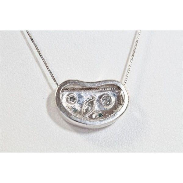 ホワイトダイヤモンド ブルーダイヤモンド ペンダントネックレス PT900/K18WG 新品 レディース megumi-1 05