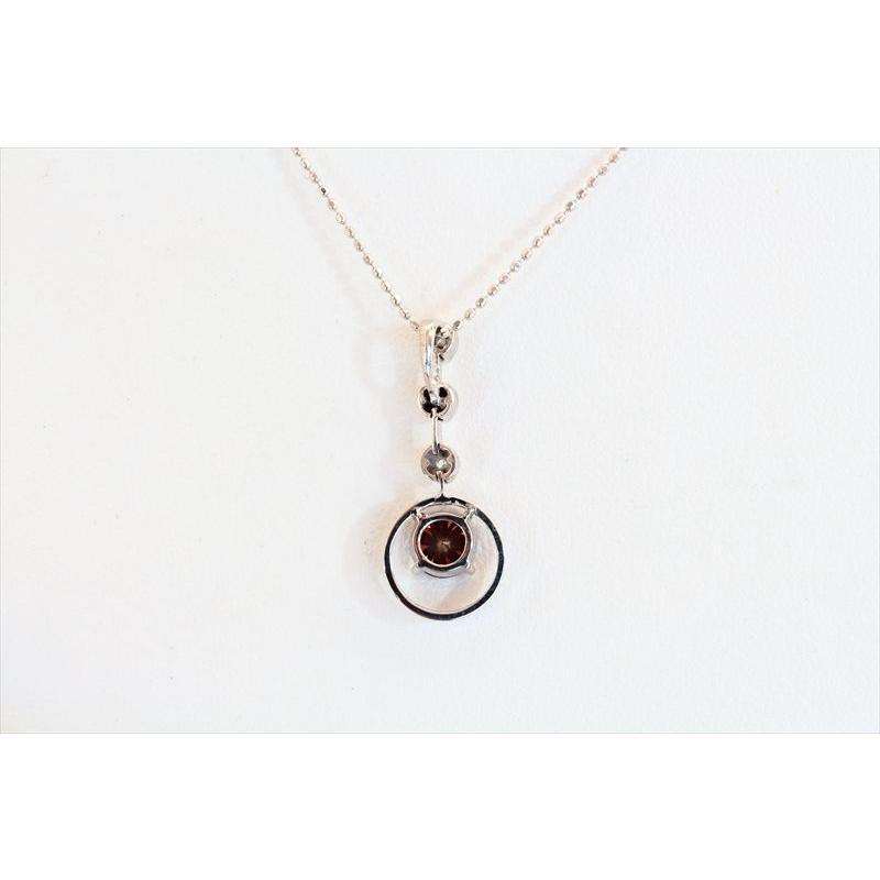 天然 ファンシーブラウン ダイヤモンド ネックレス K18WG 新品 レディース megumi-1 04