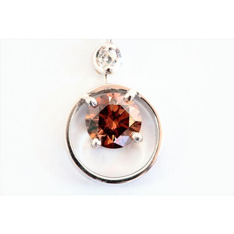 天然 ファンシーブラウン ダイヤモンド ネックレス K18WG 新品 レディース megumi-1 06