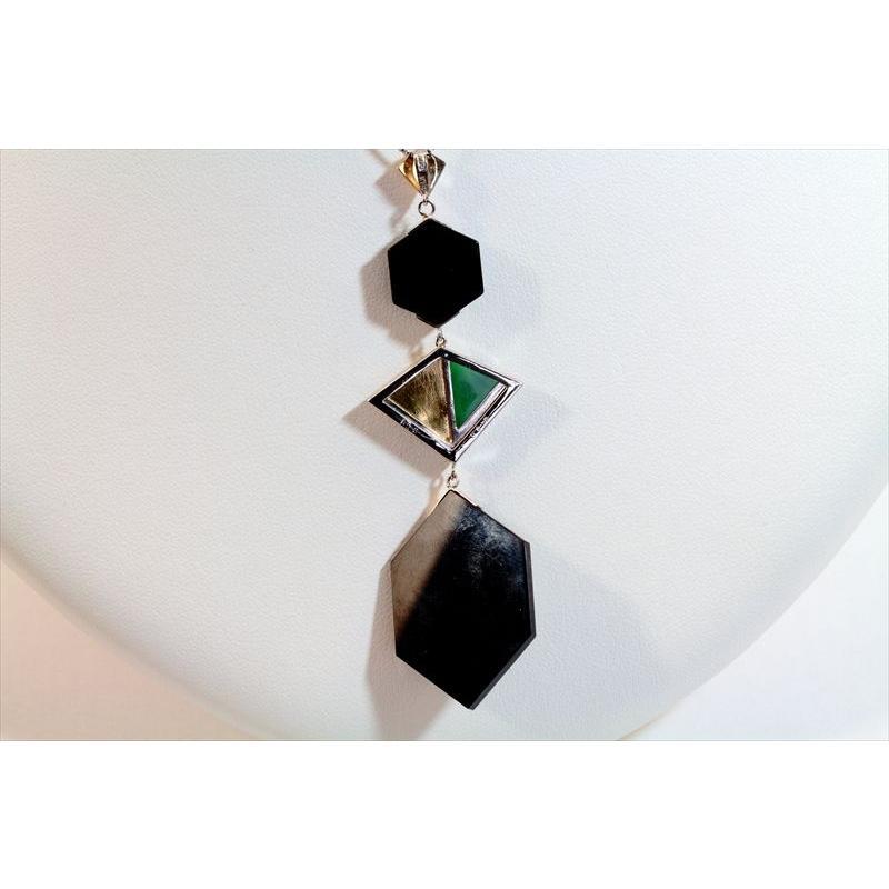 オパール オニキス 翡翠 ダイヤモンド ネックレス PT850/K18 新品 レディース|megumi-1|04