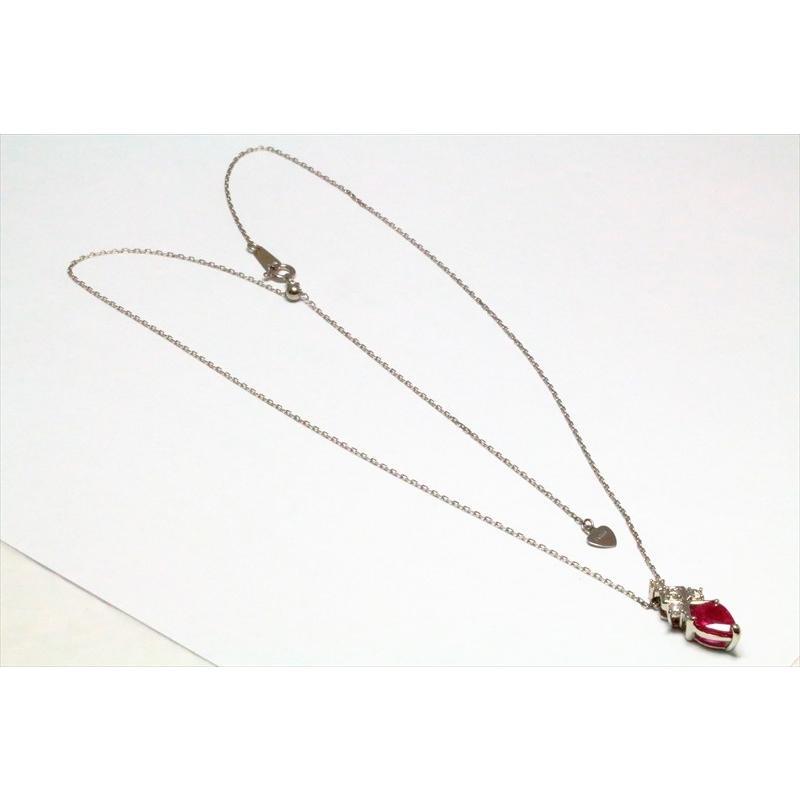 天然 ルビー ダイヤモンド ペンダント ネックレス pt900/pt850 新品 レディース|megumi-1|03