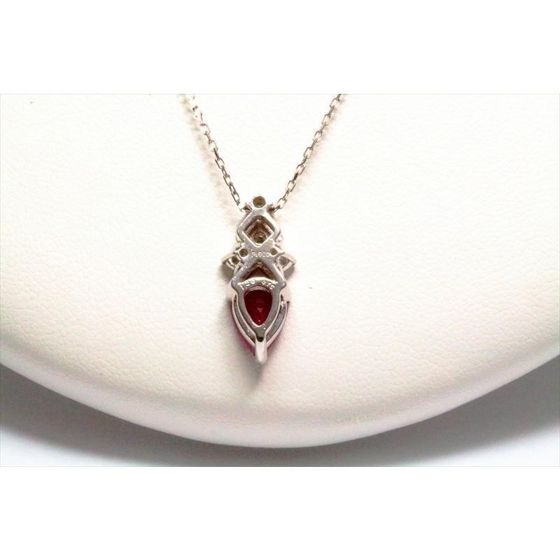 天然 ルビー ダイヤモンド ペンダント ネックレス pt900/pt850 新品 レディース|megumi-1|04