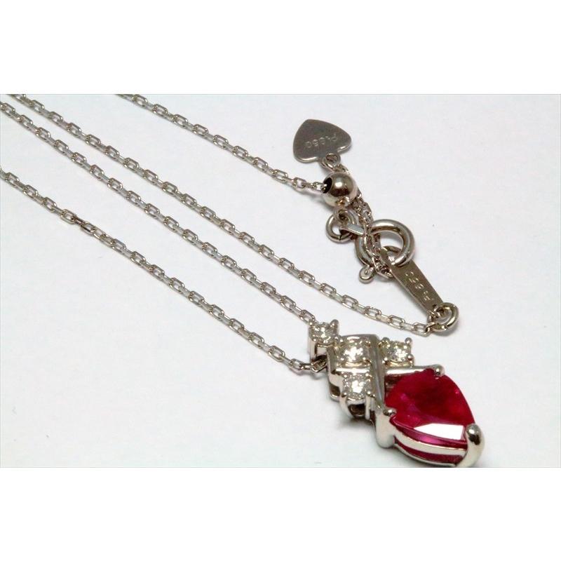 天然 ルビー ダイヤモンド ペンダント ネックレス pt900/pt850 新品 レディース|megumi-1|05