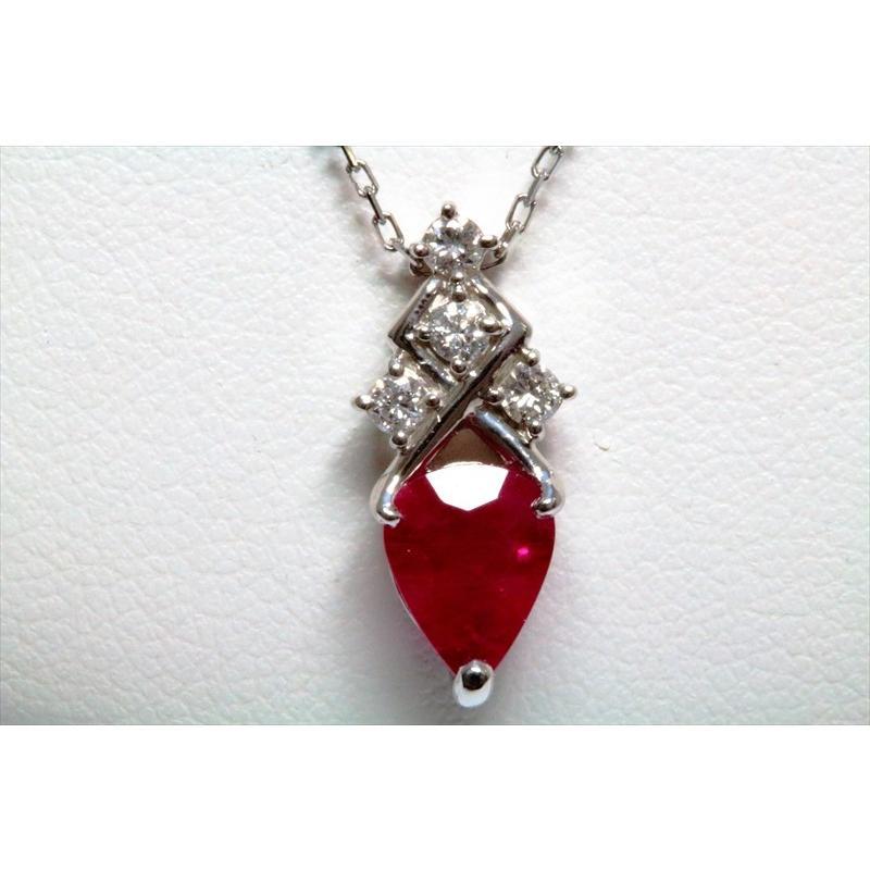 天然 ルビー ダイヤモンド ペンダント ネックレス pt900/pt850 新品 レディース|megumi-1|06