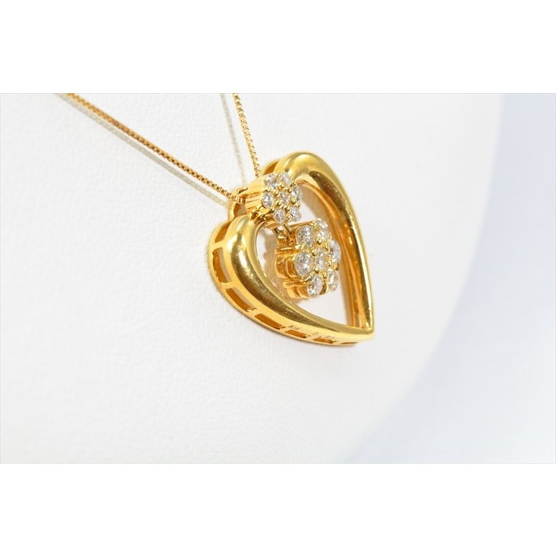 ダイヤモンド ペンダント K18 新品 レディース ハート|megumi-1|05