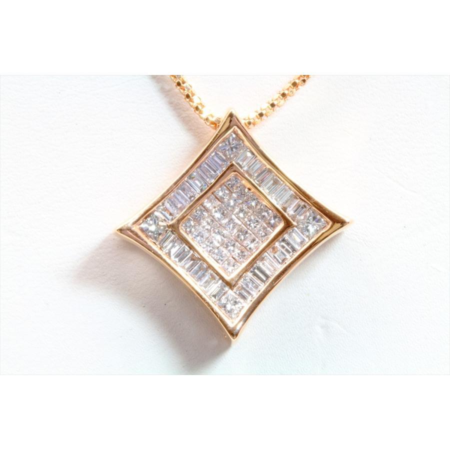 上質ダイヤモンド1.00ctネックレスK18PG ミステリセッティング megumi-1