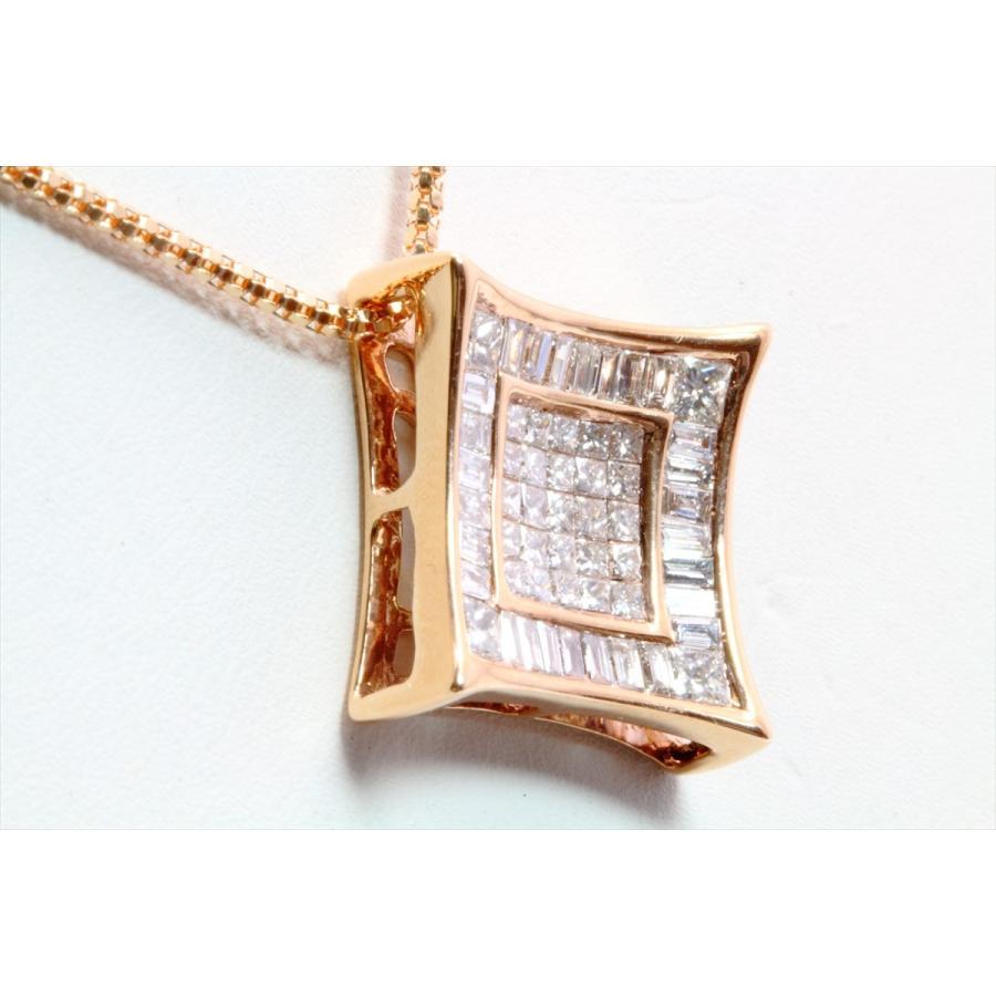 上質ダイヤモンド1.00ctネックレスK18PG ミステリセッティング megumi-1 02