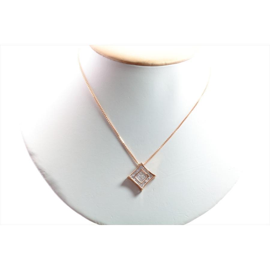 上質ダイヤモンド1.00ctネックレスK18PG ミステリセッティング megumi-1 03