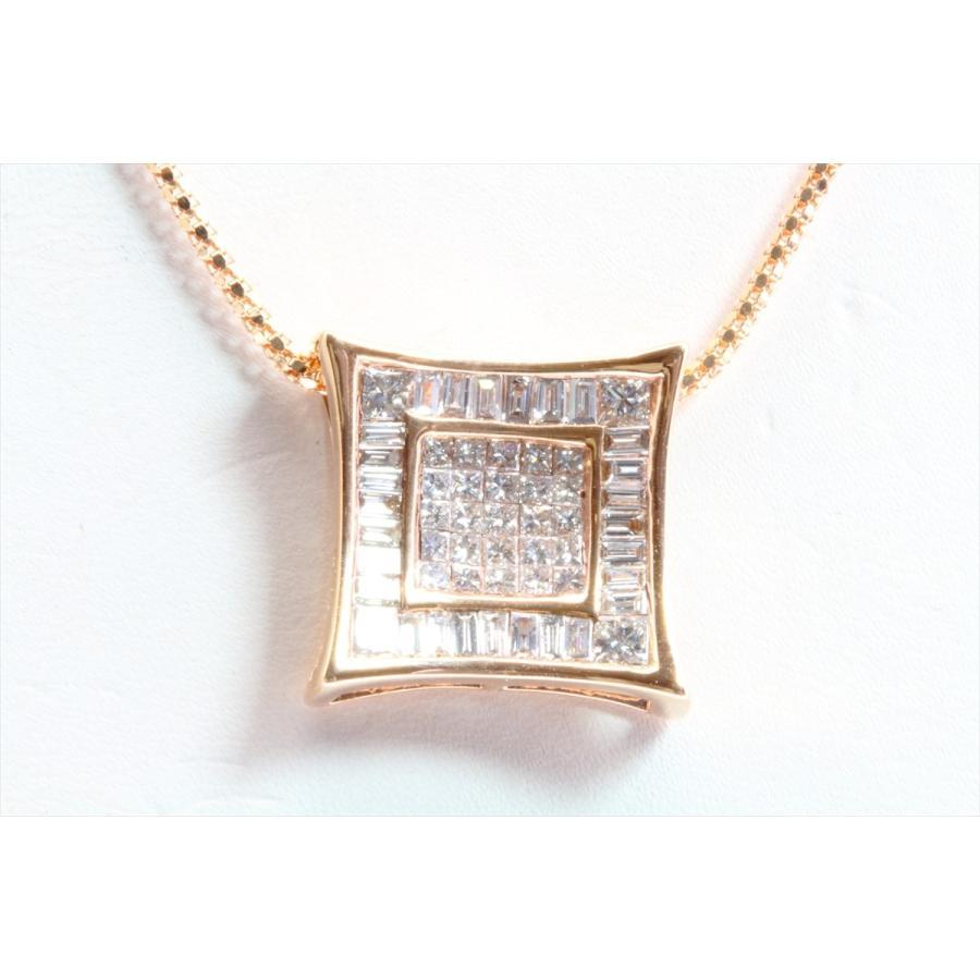 上質ダイヤモンド1.00ctネックレスK18PG ミステリセッティング megumi-1 04