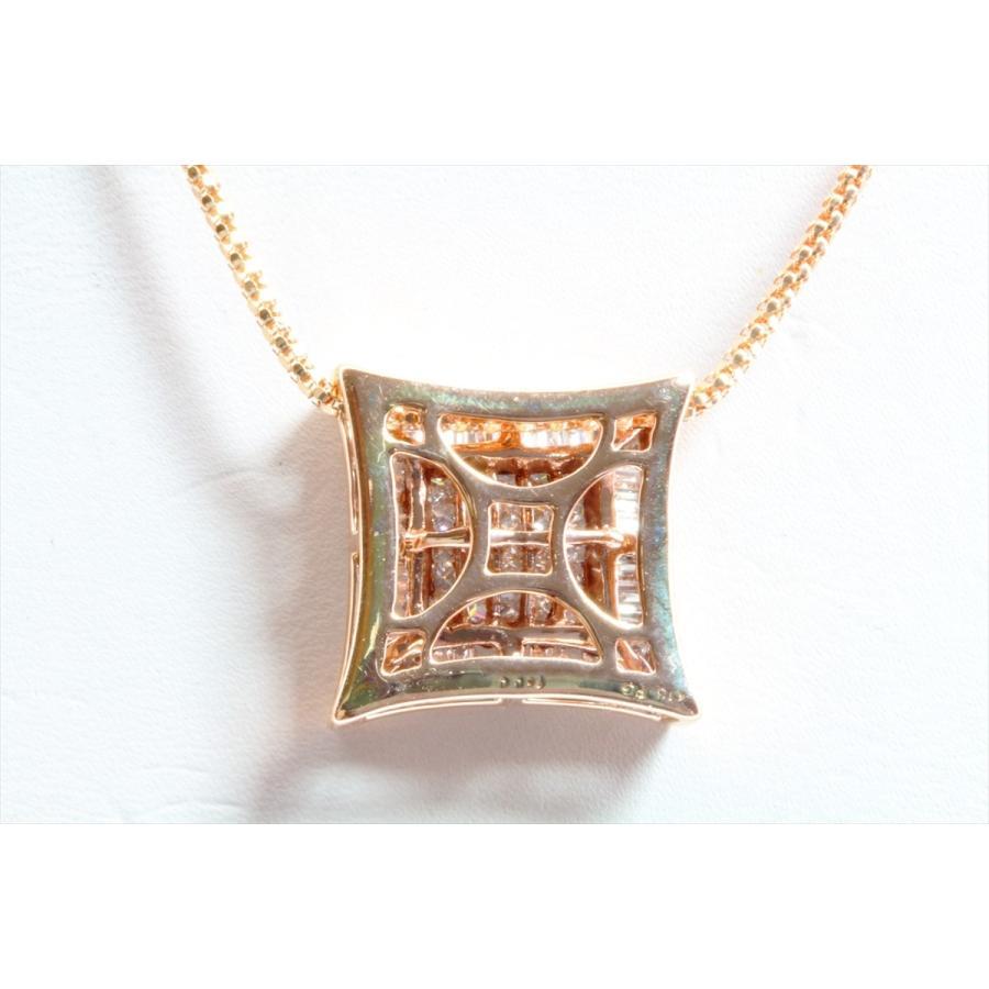 上質ダイヤモンド1.00ctネックレスK18PG ミステリセッティング megumi-1 06