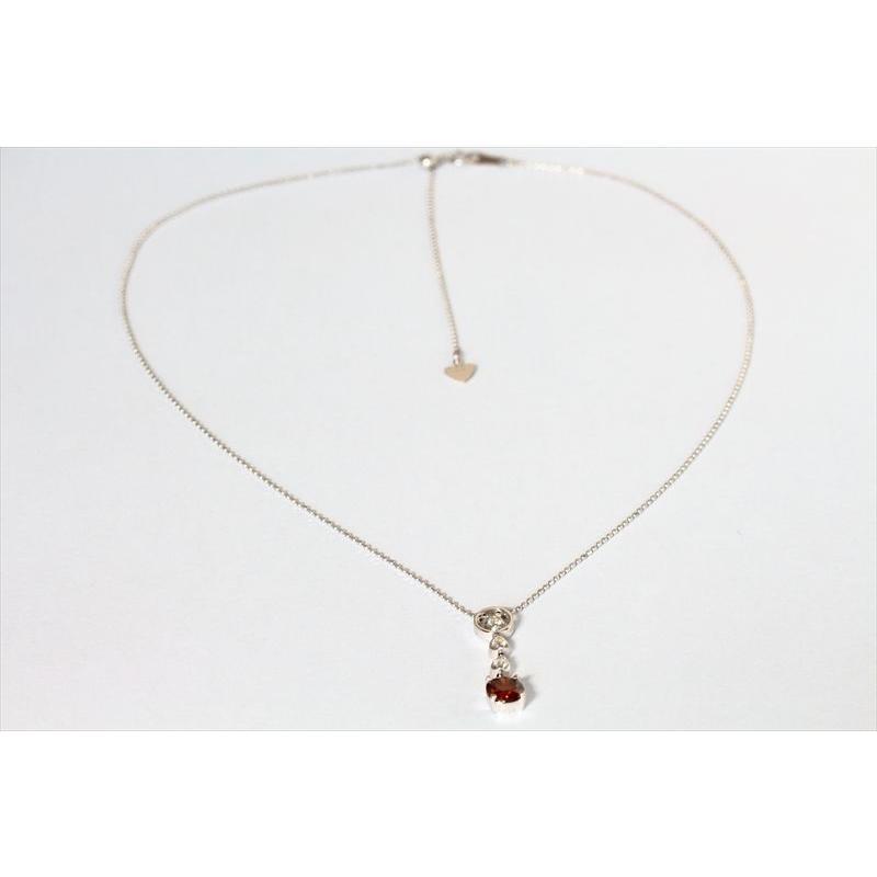 天然 ファンシー ブラウン ダイヤモンド ネックレス K18WG 新品 レディース megumi-1 03