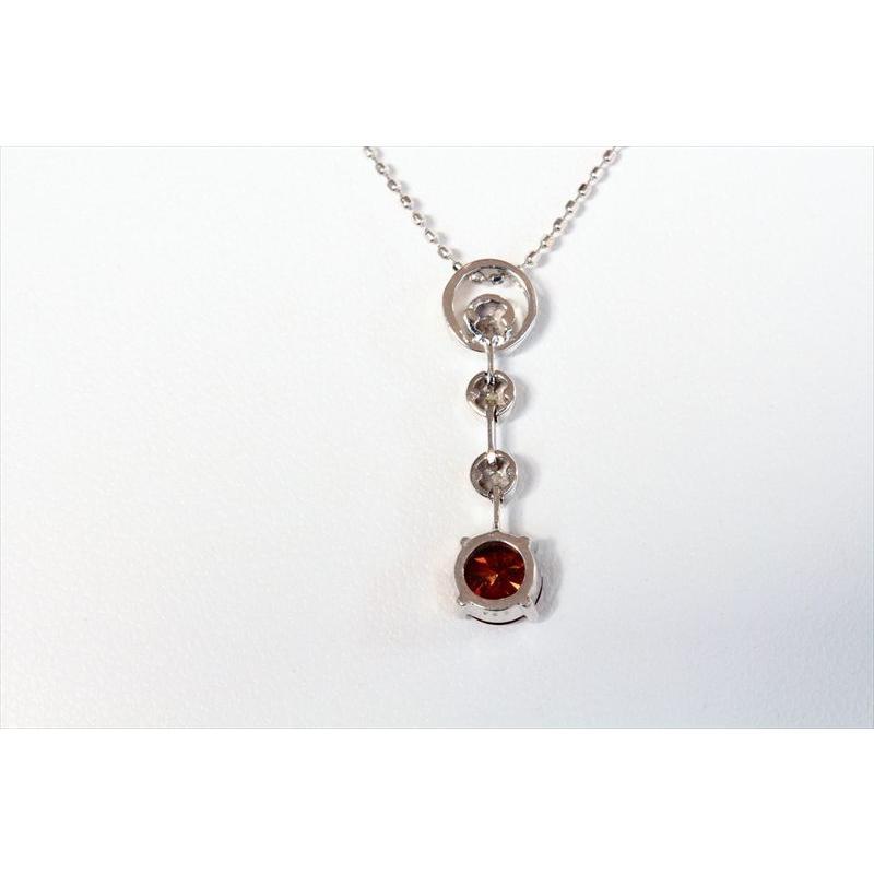 天然 ファンシー ブラウン ダイヤモンド ネックレス K18WG 新品 レディース megumi-1 04