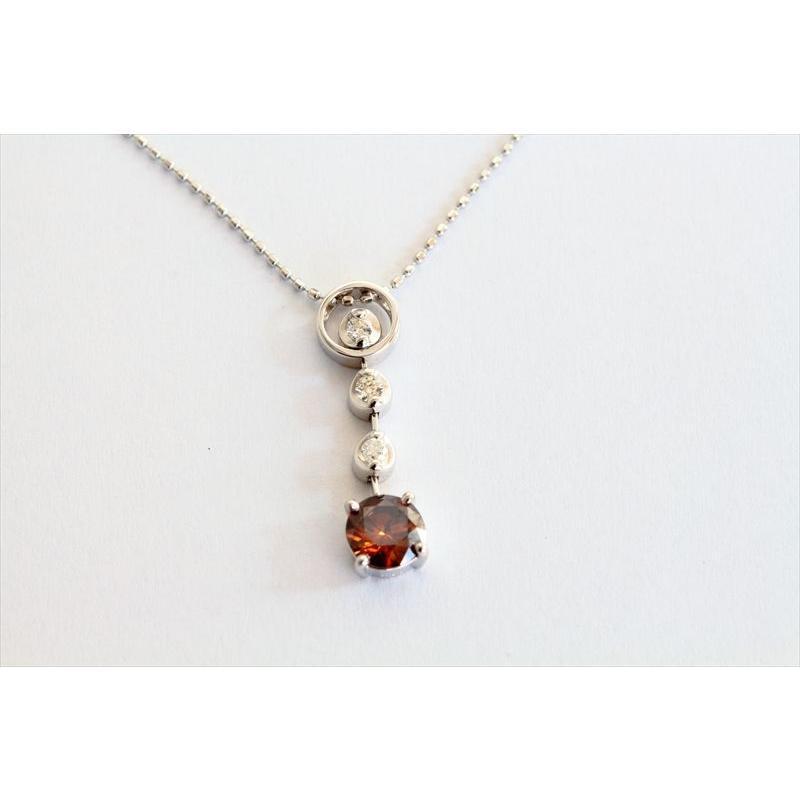 天然 ファンシー ブラウン ダイヤモンド ネックレス K18WG 新品 レディース megumi-1 05
