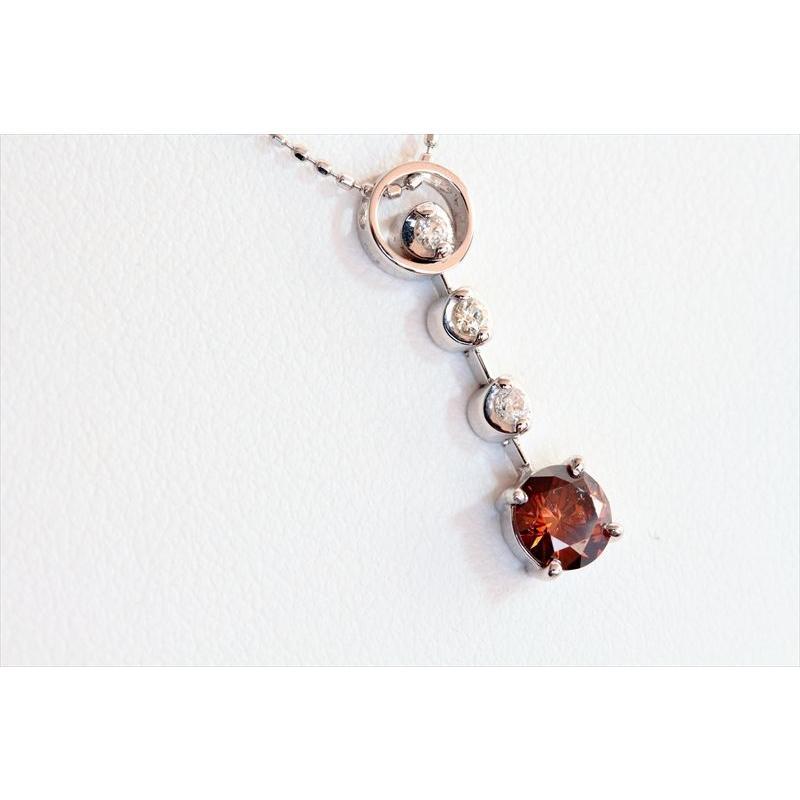 天然 ファンシー ブラウン ダイヤモンド ネックレス K18WG 新品 レディース megumi-1 06