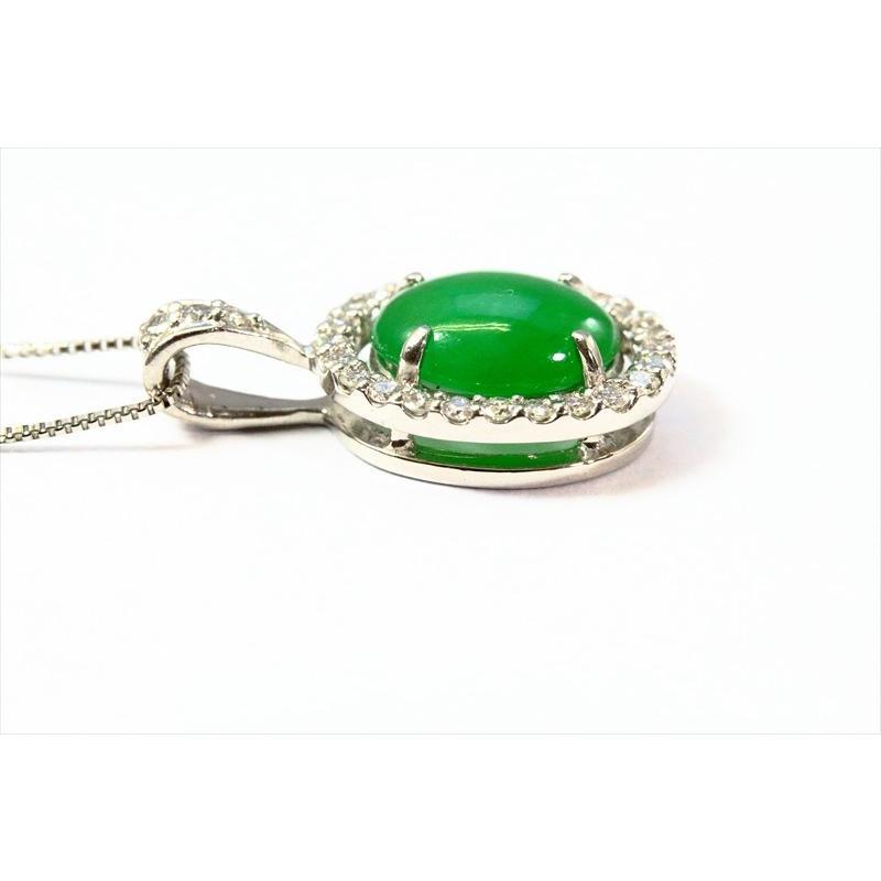天然 本翡翠 ダイヤモンド ペンダント ネックレス  PT900/PT850 新品 レディース|megumi-1|02