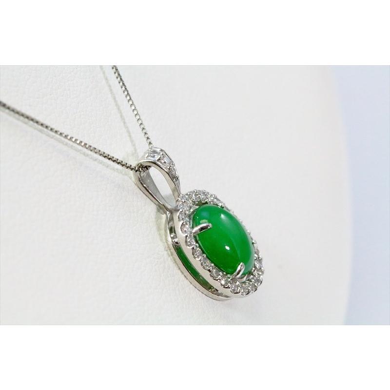 天然 本翡翠 ダイヤモンド ペンダント ネックレス  PT900/PT850 新品 レディース|megumi-1|05