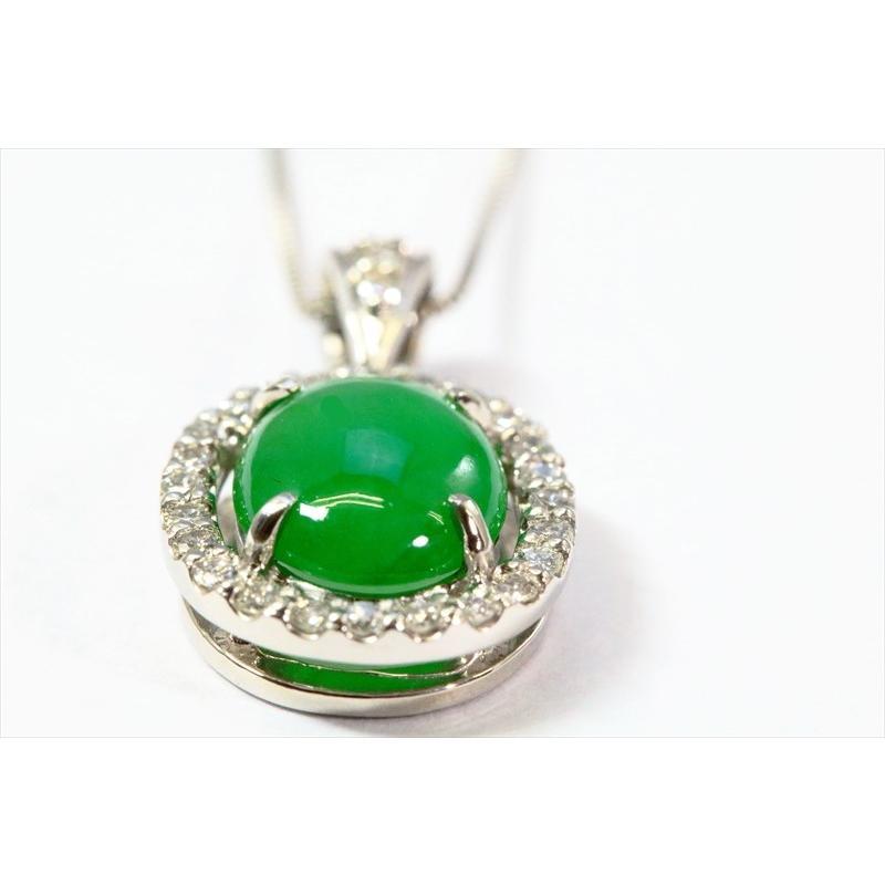 天然 本翡翠 ダイヤモンド ペンダント ネックレス  PT900/PT850 新品 レディース|megumi-1|06