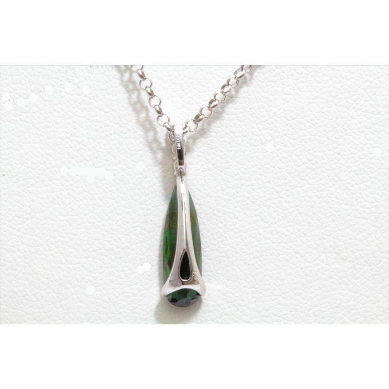 天然 グリーントルマリン ダイヤモンド ペンダント ネックレス K18WG 新品 レディース|megumi-1|04