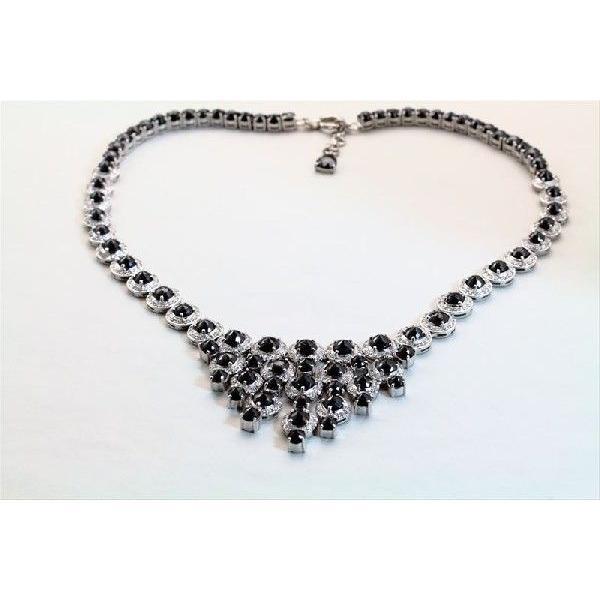 天然 ホワイトダイヤモンド ブラックダイヤモンド ネックレス K18WG  新品 レディース|megumi-1|02