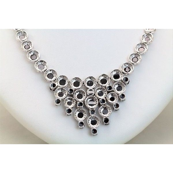 天然 ホワイトダイヤモンド ブラックダイヤモンド ネックレス K18WG  新品 レディース|megumi-1|04