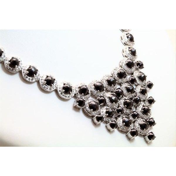 天然 ホワイトダイヤモンド ブラックダイヤモンド ネックレス K18WG  新品 レディース|megumi-1|06