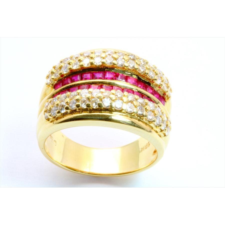 天然ルビー 1.12ct ダイヤモンド 1.05ct リング K18 新品 レディース|megumi-1|02
