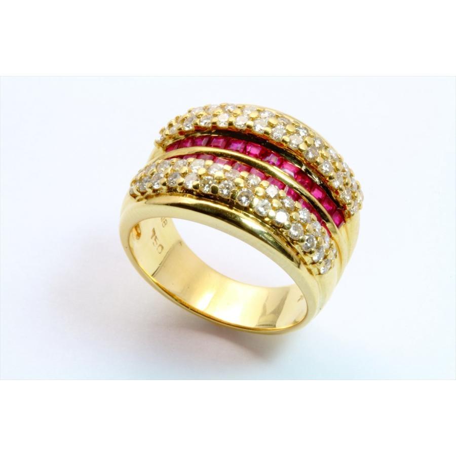 天然ルビー 1.12ct ダイヤモンド 1.05ct リング K18 新品 レディース|megumi-1|03