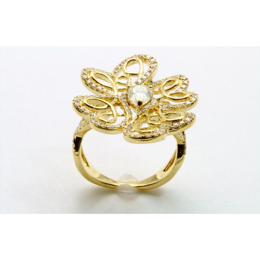 K18 フラワーオリジナルデザイン ダイヤモンドリング|megumi-1|02