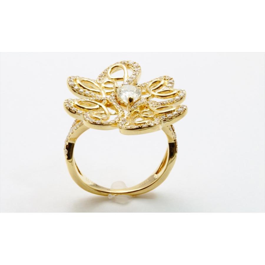K18 フラワーオリジナルデザイン ダイヤモンドリング|megumi-1|05