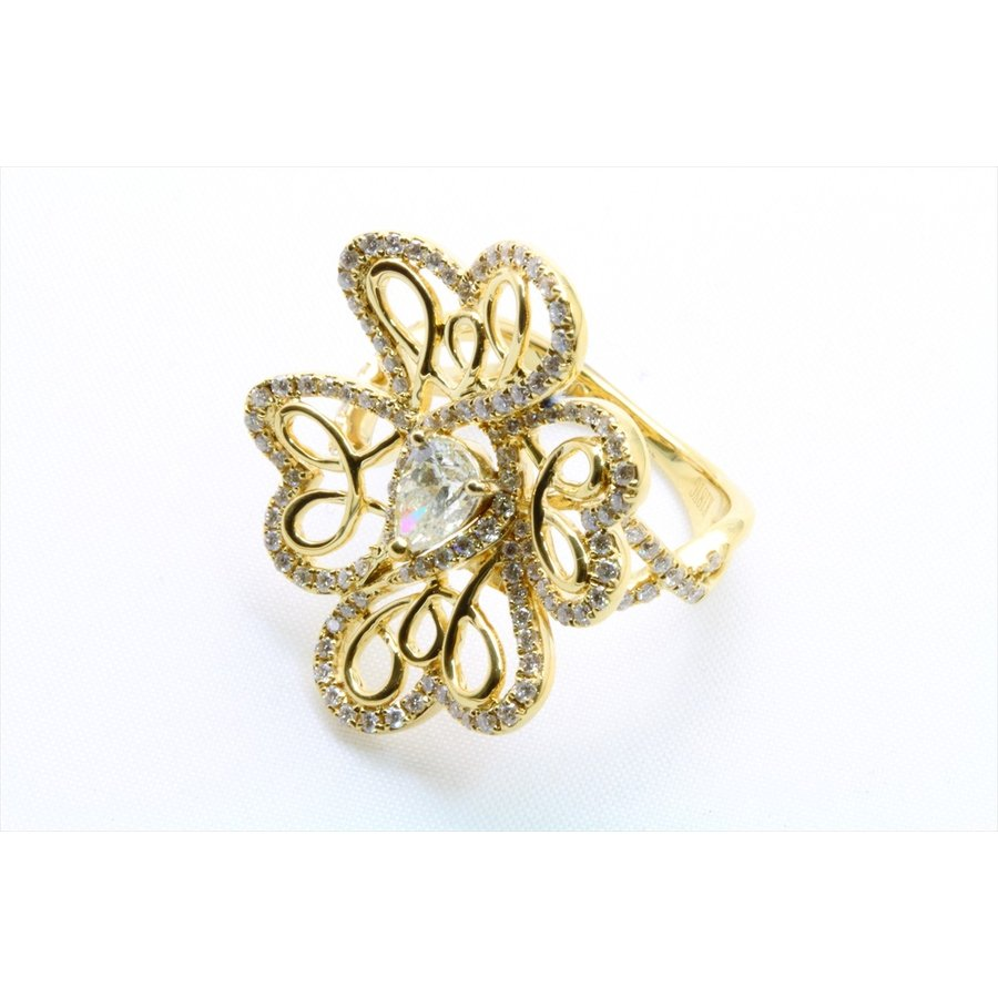 K18 フラワーオリジナルデザイン ダイヤモンドリング|megumi-1|09