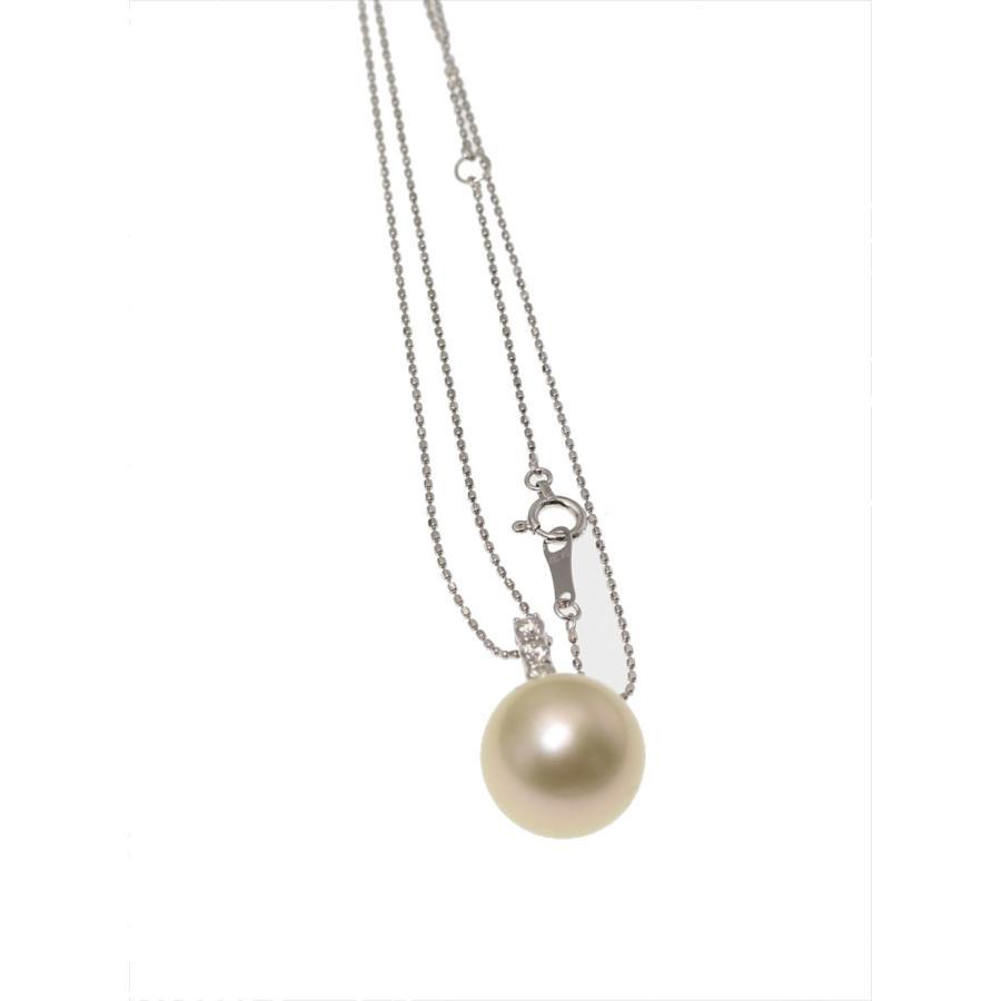 南洋ゴールドパール ダイヤモンド ネックレス K18WG 大玉 新品|megumi-1|03