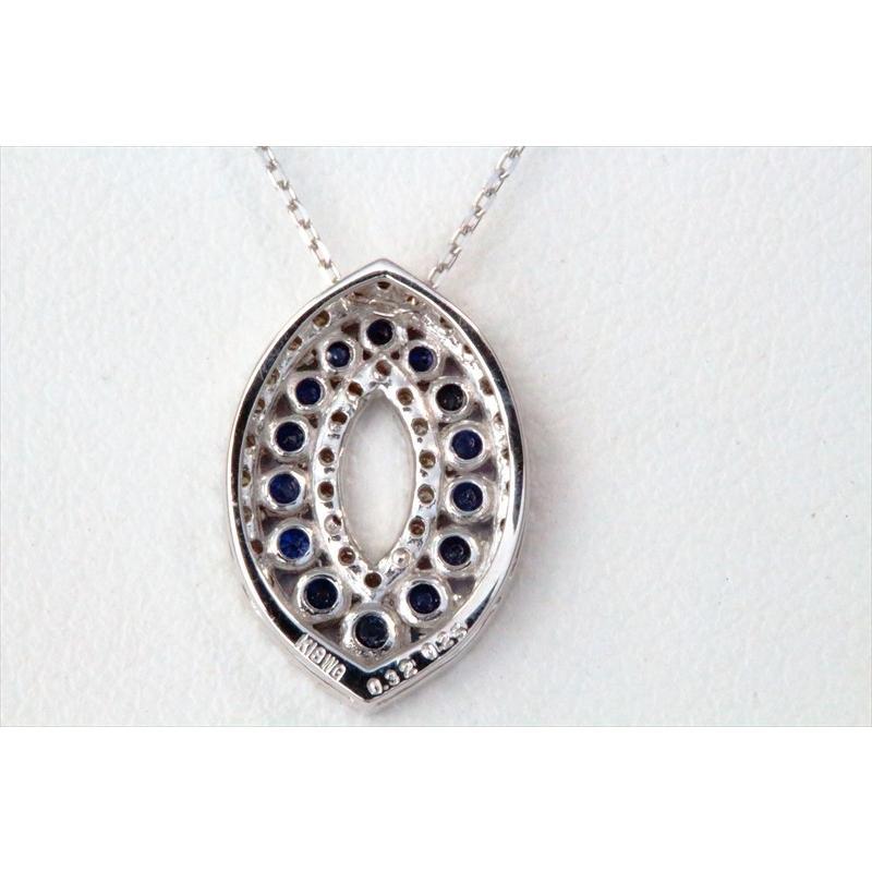 天然 ブルーサファイア ダイヤモンド ペンダント ネックレス  K18WG 新品 レディース|megumi-1|04