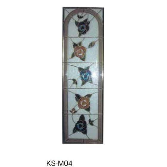 M04サイズ1270x380x18*ゴールドフレーム / ステンドグラス ドア 窓 飾り 埋め込み