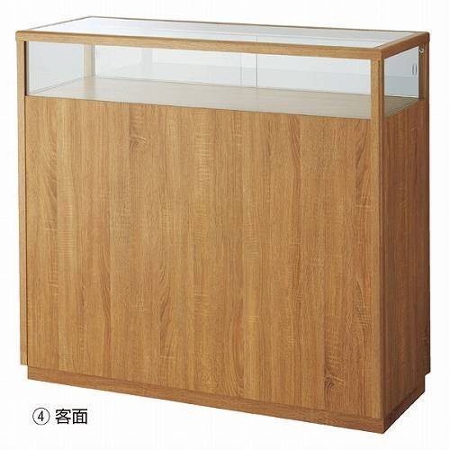 木製ショーケースカウンター W120cm ラスティック