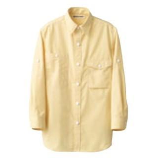 【まとめ買い10個セット品】 男女兼用七分袖シャツ CH4434-5 イエロー L