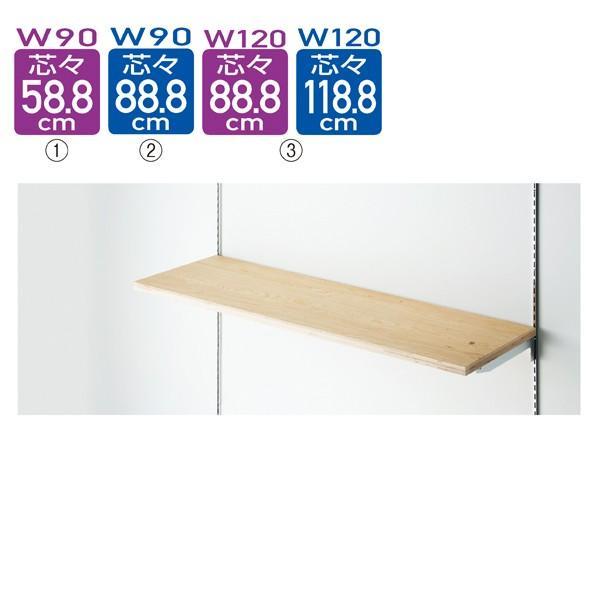 【まとめ買い10個セット品】 木棚セットW120×D40cm 木棚セットW120×D40cm ラーチ合板t24mm (ダボ8穴/芯々888・1188/透明ローカン)