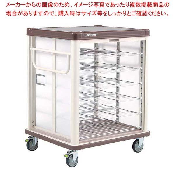 エレクター COO常温配膳車 シャッター式 リフトタイプ JCSL20CB カフェブラウン 【ECJ】カート・台車